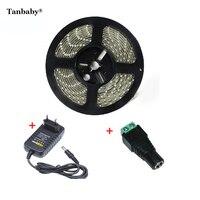 Tanbaby 5 M Waterdichte led strip 5630 DC12V 60led/M + adapter 5730 fleixble strip verlichting outdoor decoratie ulter heldere
