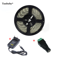 Tanbaby 5M Waterproof led strip 5630 DC12V 60led/M + power adapter  5730 fleixble strip lighting outdoor decoration ulter bright