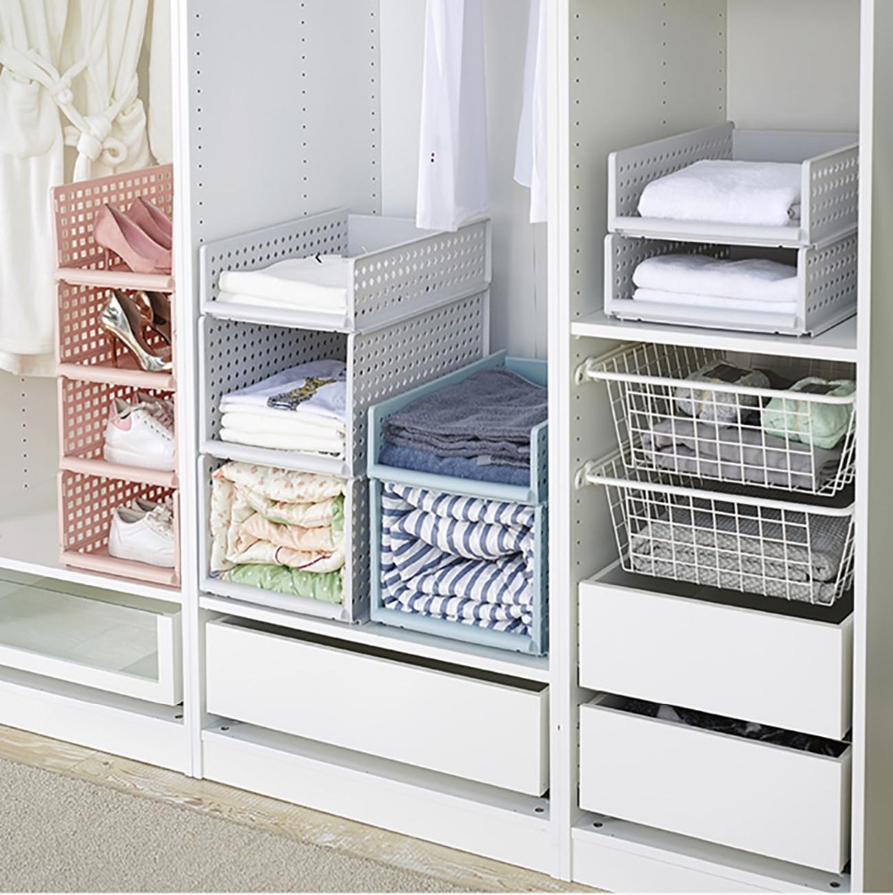 Stackable Sliding Clothing Storage
