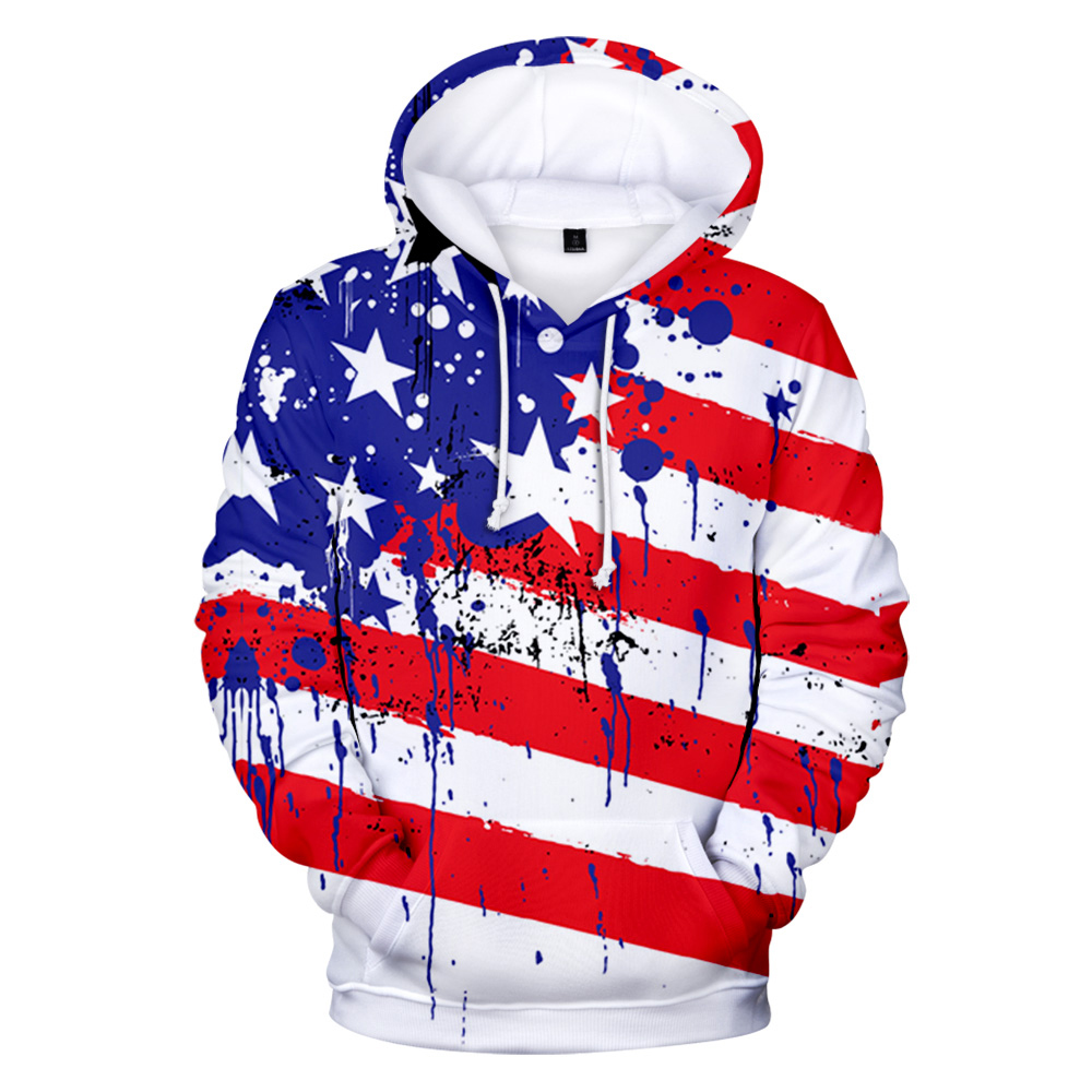 New Men's Hoodies Independence Day Sweatshirt 3D Print Major Festival Hoodie Unisex US Independence Day Hip Hop Wild Clothes