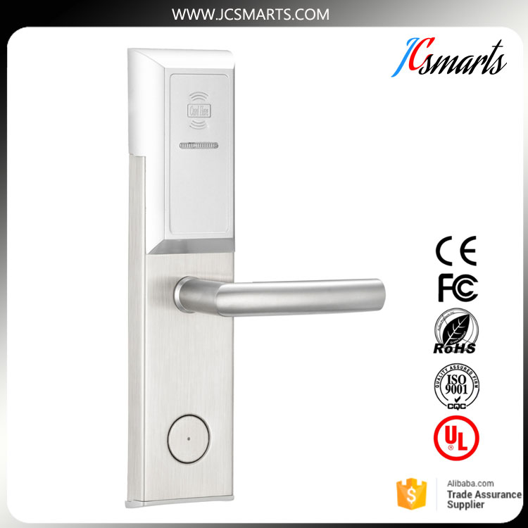 Low price rfid card security handle safe electronic hotel smart keyless door lock digital electric best rfid hotel electronic door lock for flat apartment