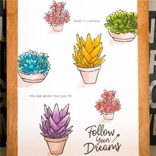 Naifumodo Plant Pot Stamps and Dies Aloe Scrapbooking Tropical Metal Cutting Decoration Embossing Album Card Craft New 2019