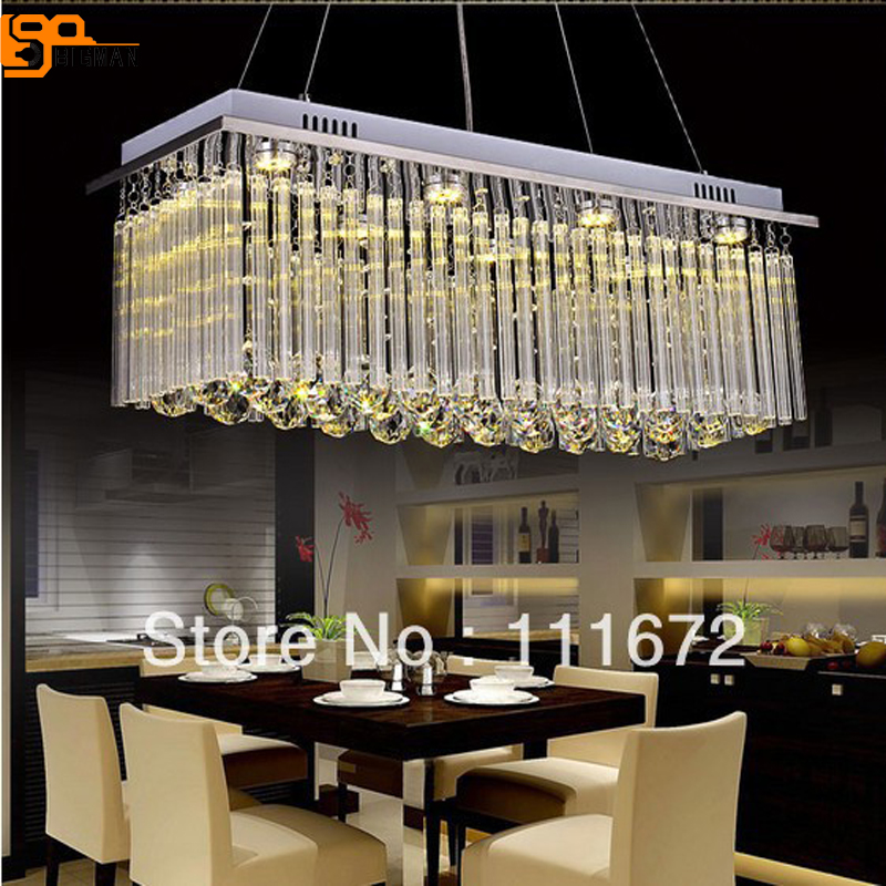 new modern crystal light fixtures for dining room rectangular crystal pendant lamps guaranteed 100%