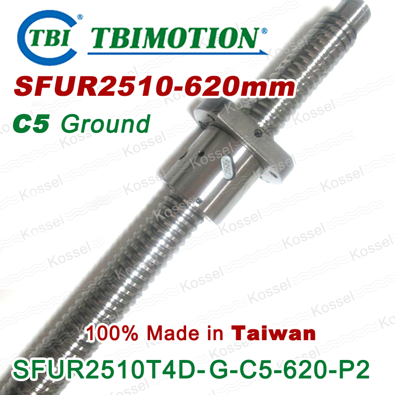 TBI 2510 C5 620mm ball screw with dfu2510 10mm lead screw nut of SFU set end machine for high precision CNC kit tbi 2510 c3 620mm ball screw 10mm lead with dfu2510 ballnut end machined for cnc diy kit dfu set