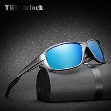 DOS En Punto Hombres Polarizaron las gafas de Sol de Espejo Vidrios Del Conductor UV400 Gafas de Sol Masculino Gafas Oculos gafas de sol de Viaje K1009