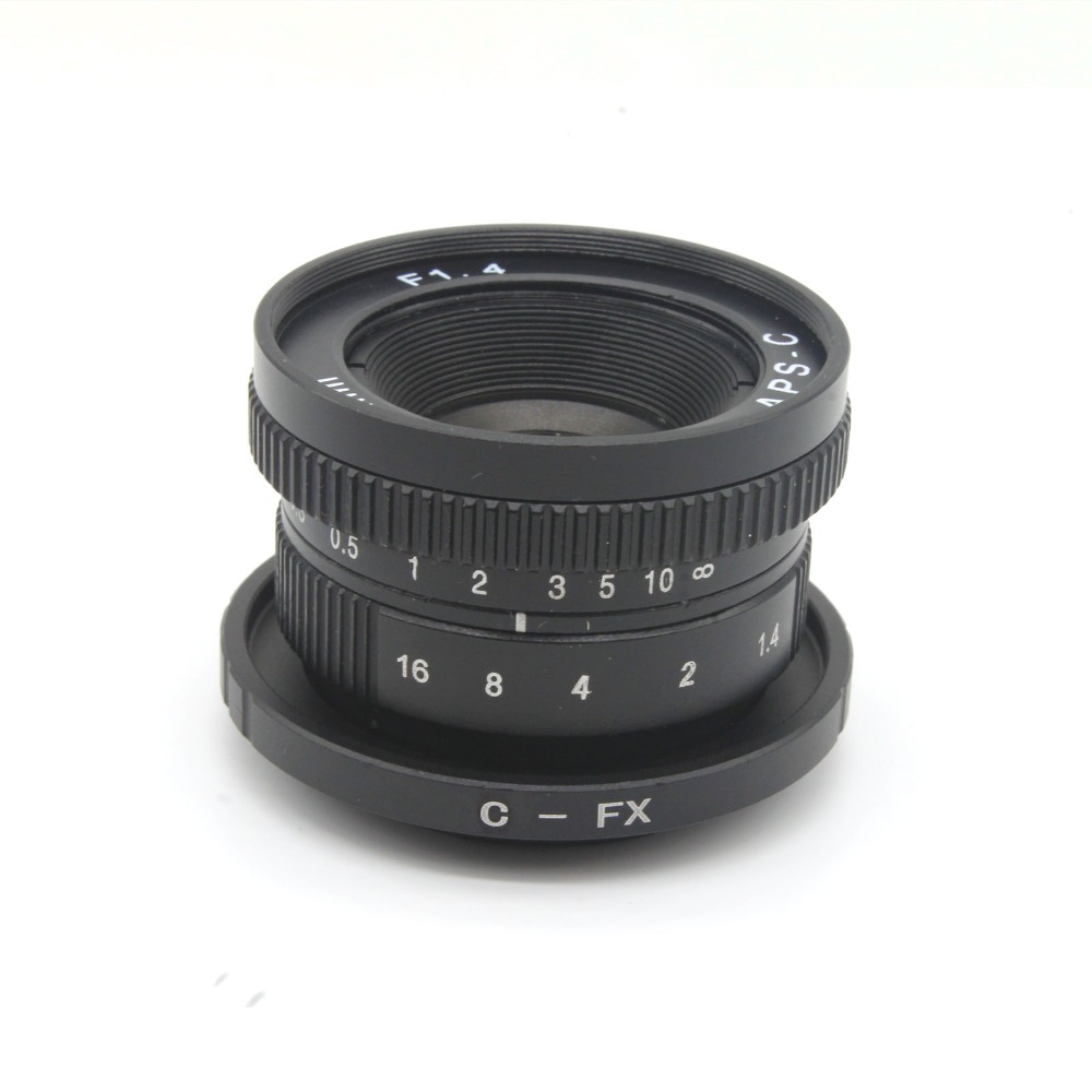 ФОТО Camera Mirroless 25mm F1.4 C-Mount Camera Lenses with C-FX adapter for Fujifilm X-E2 / X-E1 / X-Pro1 / X-M1 / X-A2 / X-A1 / X-T1