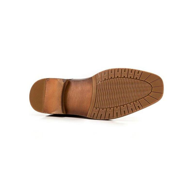 Hombres Masculinos Genuino Cuero Mano Zapatos De Coffee Bota brown Moda Botas Chelsea Nueva A Tobillo Hechos 2018 Masculina Invierno Otoño 6EcFqn