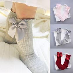 Новинка 2019 года; носки с бантом для малышей полосатые гольфы для маленьких девочек детские гольфы; Sokjes; гольфы для малышей Sokken