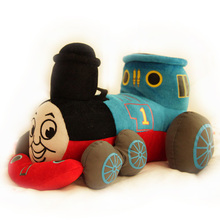 Candice guo plush toy cartoon anime mini Thomas train locomotive model soft pillow cushion children christmas birthday gift 1 pc