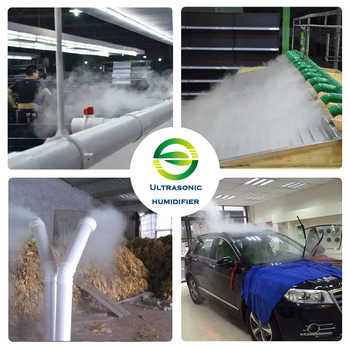Industrial Ultrasonic Humidifier ZS-40Z Mute Humidification Machine 12KG/H Diffuser Sprayer For Planting/Vegetable/Tobacco