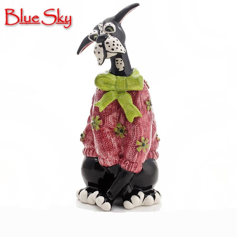 keramický dalmatinský pes domácí výzdoba řemesla pokoj dekorace keramika řemeslná ozdoba porcelán zvířecí figurka