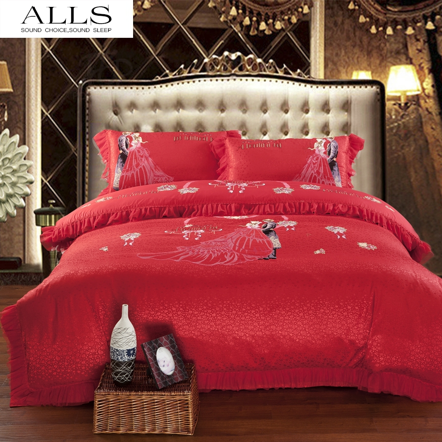 Luxury Wedding Bedding Set Lace