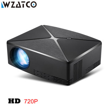WZATCO C80 UP HD MINI Projector 1280×720 Resolution Android 6.0 WIFI Proyector LED Portable HD Beamer for Game Movie Home Cinema