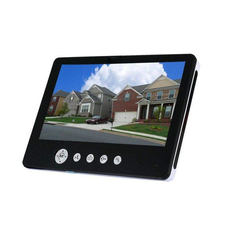 Video Intercom System 9 inch Big Screen 900TVL HD Camera Video Door Phone DoorBell IR Night Vision Camera video doorphone 1V2
