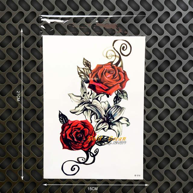 Online Shop Bunga Mawar Renda Mehndi Henna Temporary Tattoo Desain