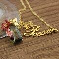 Франция бренд ле nereides благородной роскоши цветок gem письмо эмаль глазури ожерелье королевы изысканные элегантный ювелирные изделия