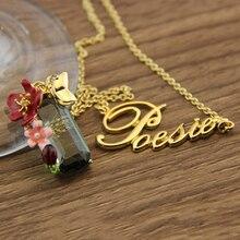 Francia marca les nereides noble lujo gema de la flor del esmalte carta esmalte collar de la reina fina elegante de la joyería