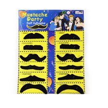 12pcs Creative funny costume pirate party Halloween cosplay fake mustache moustache funny fake beard whisker for kids adult(China)