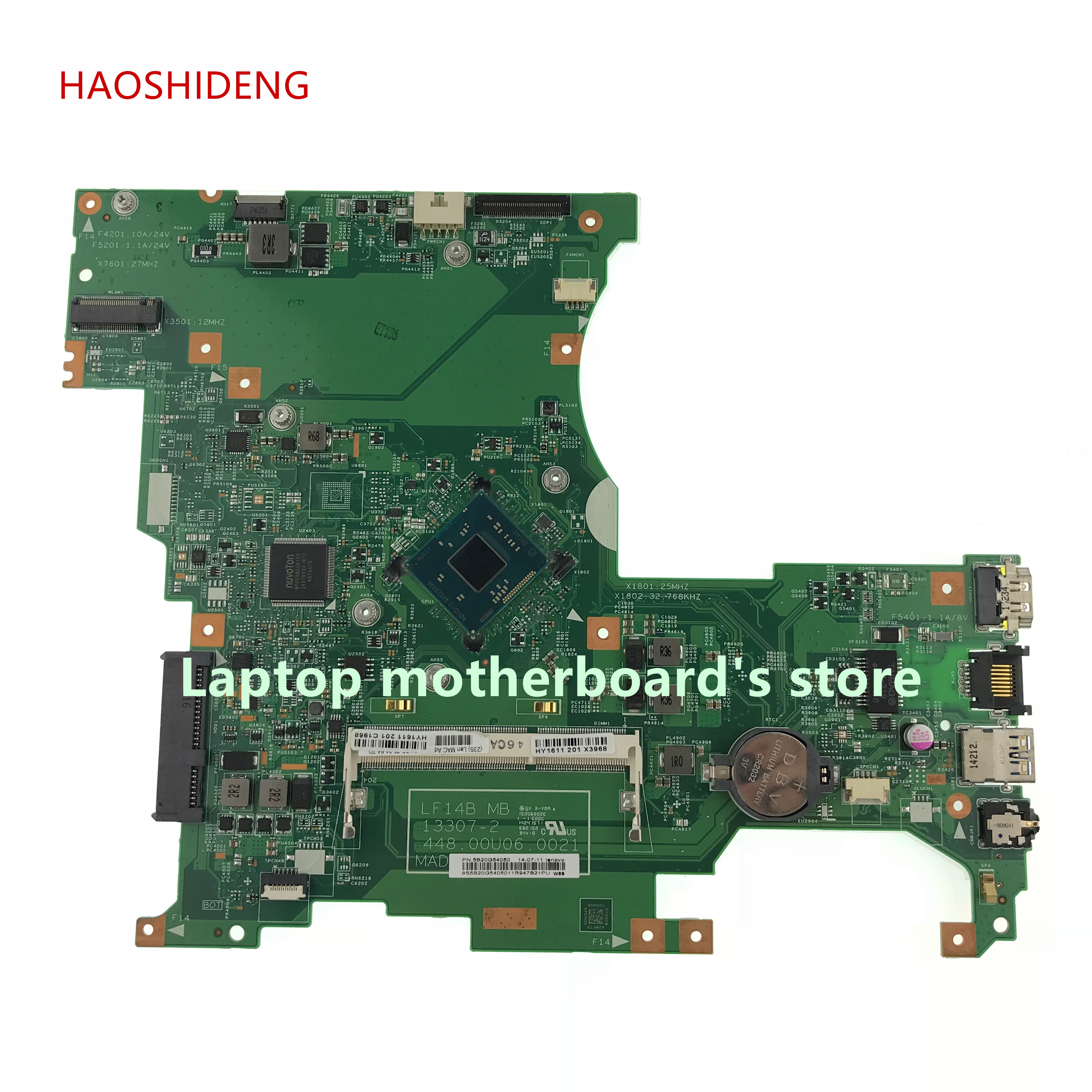 цена HAOSHIDENG 5B20G54050 448.00U06.0021 For lenovo Ideapad Flex 2-14 laptop motherboard All functions fully Tested