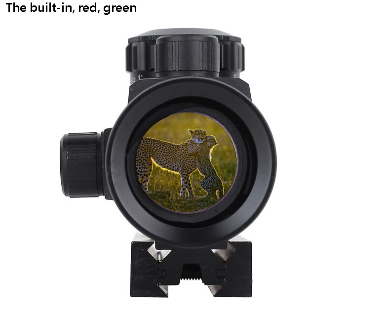 The new red and green dot sight is adjustable up and down to find the bird