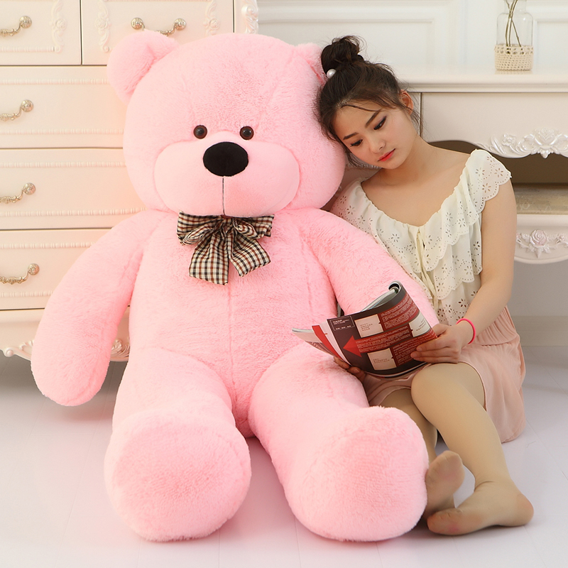 EMS [160cm 5 Colors] Giant Large Size Teddy Bear Plush Toys Stuffed Toy Life Size Teddy Bear Lowest Price Birthday gifts 2018