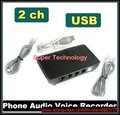 W7 W8 32 64bit telephone recorder 2 ch landline phone recorder USB telephone REC telephone monitor,usb telephone monitor