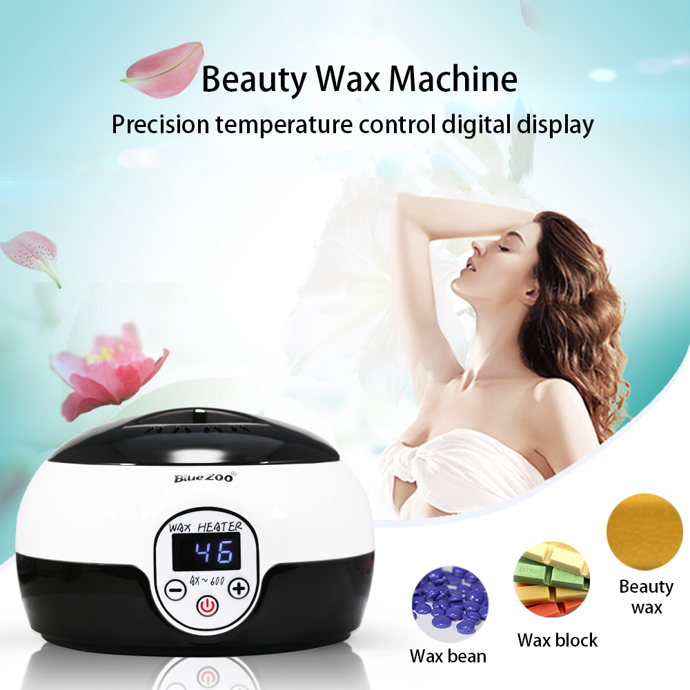 500ML LED Waxing Heater Wax Warmer Pot Painless Hair Removal Stick Machine Display Salon S