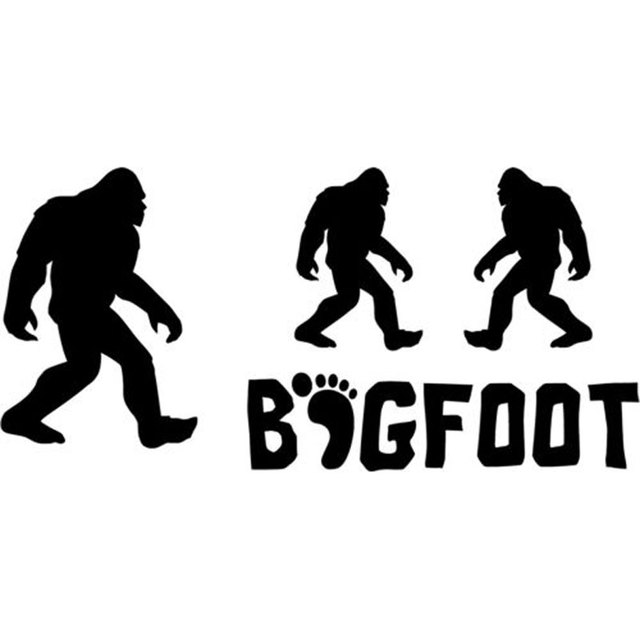 16cm7 7cm set 4 bigfoot yeti sasquatch car stickers and decals motorcycle car styling