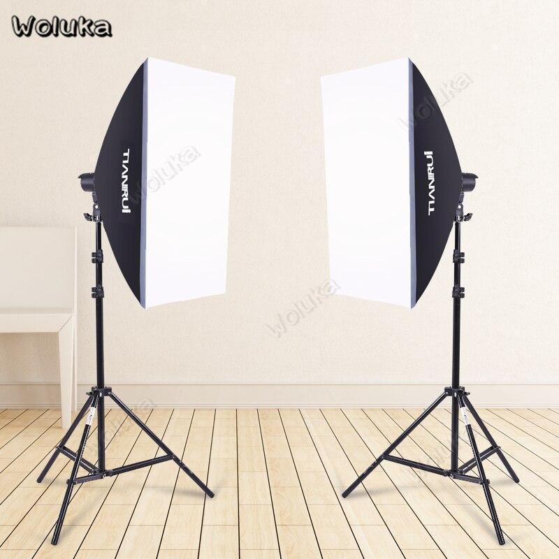 2 Softbox Set X 2M Light Stand Bracket Kit For Product Photography Photoshot Studio Equipment Commodity Fill Light CD50 T10