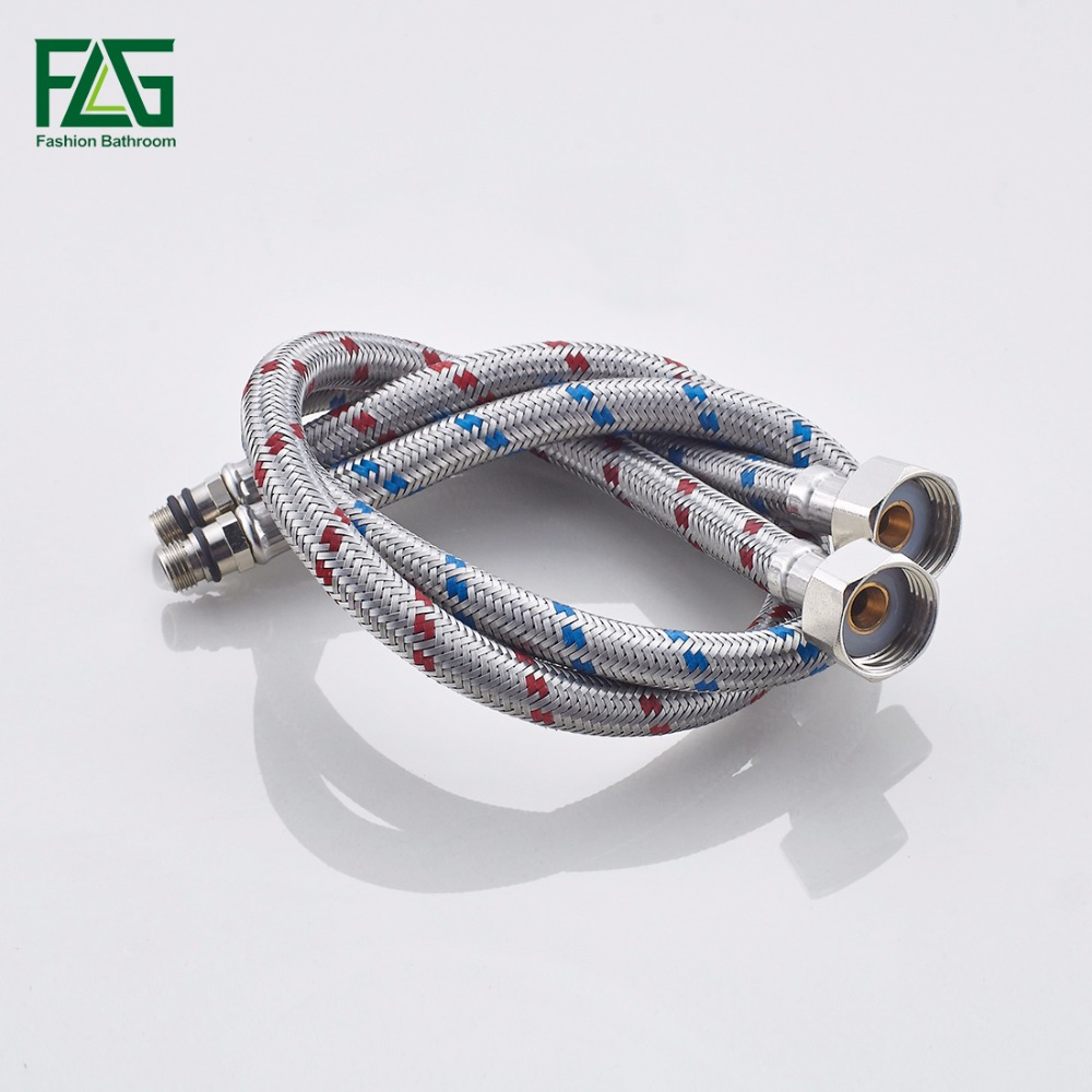 Plumbing Hoses 304 Stainless Steel Knitted Wire Basin Toilet Triangle Valve Plumbing Hose Bathroom Replacement Parts