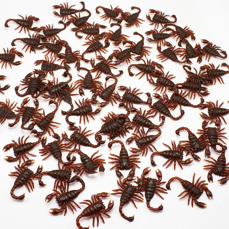 Wholesale 500Pcs/lot Lifelike Plastic Simulation Scorpion Model Prank Toy Joking Scary Gags Practical Jokes Toys