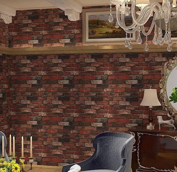 Home Improvement Bacaz Exfoliator Texture Block 3d Brick Wallpaper For Restaurant Cafe Sofa Background Decor 3d Brick Wall Paper 3d Wallcoverings Grade Products According To Quality
