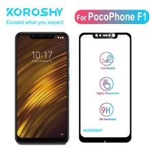 KOROSHY 9H Tempered Glass for Xiaomi PocoPhone F1 Xiomi Poco Screen Protector Full Cover 2.5D Protective Safety Film