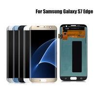 KHP оригинальный SUPER AMOLED ЖК дисплей для SAMSUNG Galaxy S7 край G935 G935F Замена Сенсорный экран планшета Дисплей без рамки