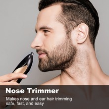 BESTOPE Beard and Nose Hair Trimmer 8 in 1 Rechargeable Grooming kit Facial Hair Clipper Trimmer for Men and Women