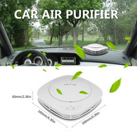 OUTAD Air Freshener Cleaner Car Air Purifier With Negative Ion Generator Activated Carbon Integrated Filter Aroma Storage Box