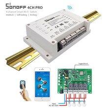 умный дом ITEAD sonoff 4CH Pro 4 банды монтажный Smart WI-FI переключатель Беспроводной Управление домашний свет Alexa Дистанционное домашней автоматизации 10A/ 2200 Вт