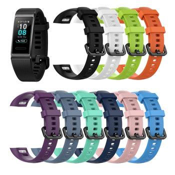 Watch Band For Huawei Band 3 Pro Silicone Adjustable Watch Band Replacement Smart Bracelet Strap Accessory
