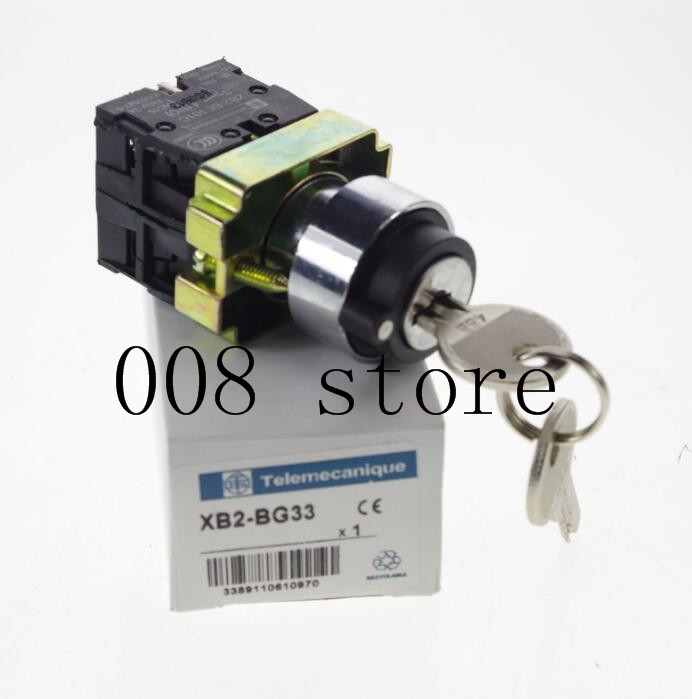 XB2BG33C 2 N//O 3 Positions Maintained Key Select Selector Switch Replaces Tele