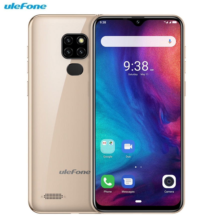 Ulefone Note 7P 4G Smartphone 6.1 inch Android 9.0 MT6761VWB Quad Core 3GB RAM 32GB ROM 4 Camera 3500mAh Face Unlock Cell Phone(China)
