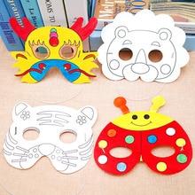 Handmade Craft Toys Painting-Masks Party-Decoration Kindergarten Animals DIY Kids Cartoon
