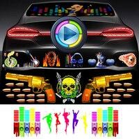 Car Styling 90 X 25CM Car Sticker Music Rhythm LED Universal Flash Light Lamp Voice activated Equalizer Flashing lightning