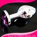 Фиолетовый 85*35 ММ Металлические Анальные Игрушки анальный Ювелирные Изделия секс-игрушки продукты секса