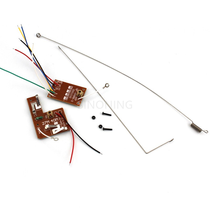2pcs 4CH <font><b>RC</b></font> remote control 27MHz/<font><b>40Mhz</b></font> circuit PCB transmitter&<font><b>receiver</b></font> board for toy car image