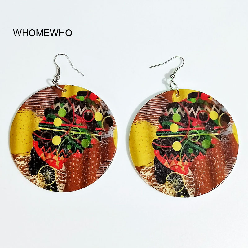 60cm Africa Wood Black African Queen Earrings Bollywood Bridal Vintage Bohemia Party Ear Jewelry Wooden Silver DIY Accessories in Drop Earrings from Jewelry Accessories
