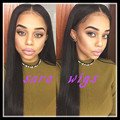 Light Yaki Straight 1b # off black  Synthetic Lace Wigs no lace&lace front  Free Part Baby Hair Heat Resistant cosplay Wig