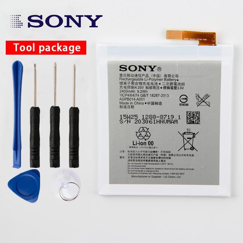 Original da Sony de Alta Capacidade Da Bateria Do Telefone Para Sony Xperia M4 Aqua E2333 E2353 E2303 LIS1558ERPC 2400 mah