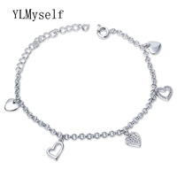 Lovely heart pendant bracelets & Bangles 2018 latest arrive romantic jewelry best gift for girlfriend cute bracelet
