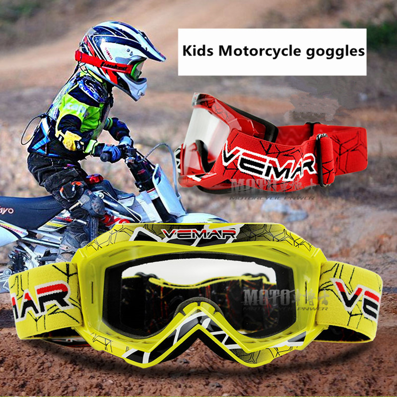 NEW Children Motorcycle Goggles Kids MX MTB Off Road Dirt Bike ...