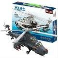 Модель строительство комплекты совместимы с lego город Ставангер WZ10 вертолет 3D блоки Образовательной модели здания игрушки хобби